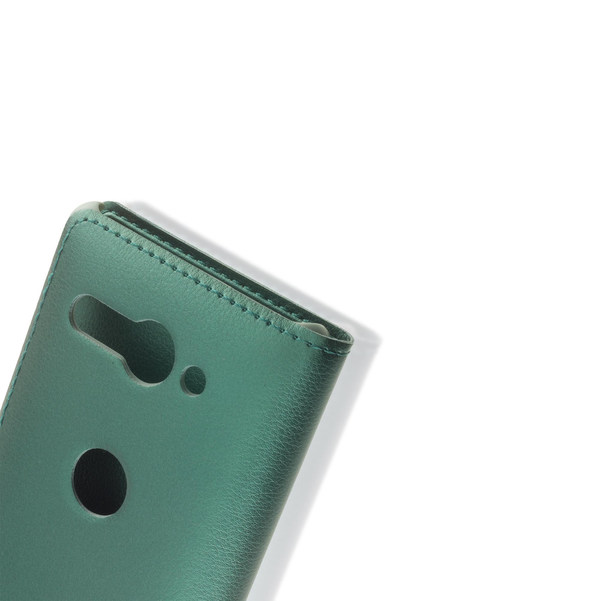 Чехол-книжка Brosco для Xperia XZ2 Compact зелёного цвета