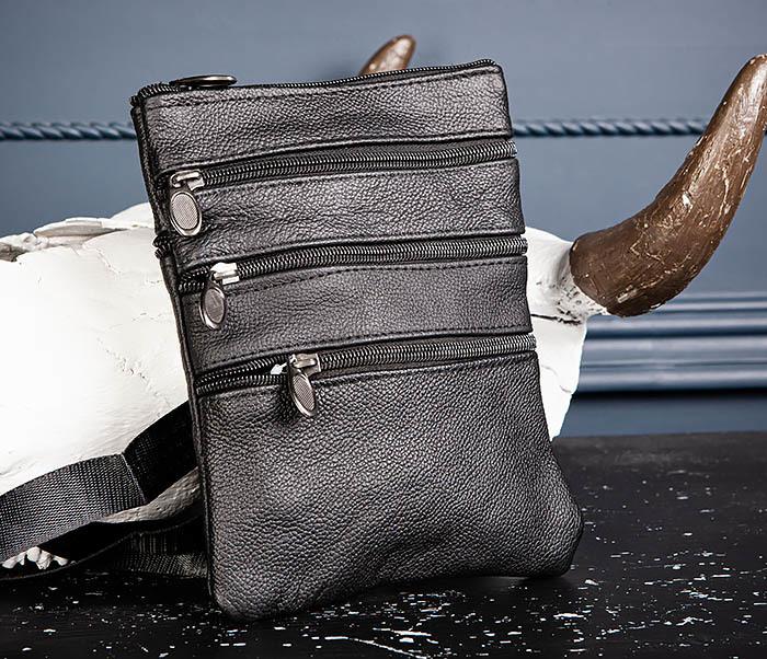 BAG541-1 Мужская сумка планшет из натуральной кожи фото 04