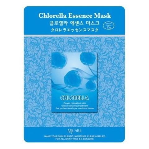 Маска тканевая тонизирующая с хлореллой Mijin Cosmetics Chlorella Essence Mask