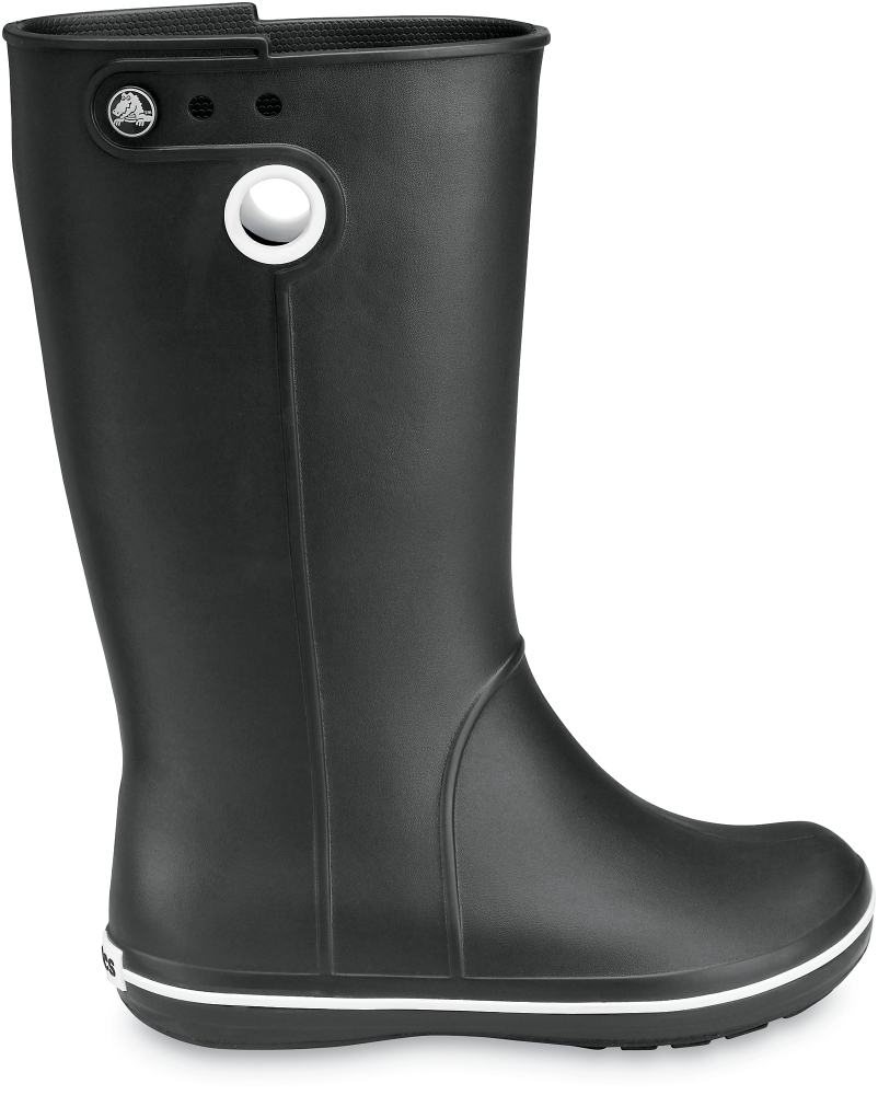 Резиновые сапоги женские (черные) Crocs™ Crocband™ Jaunt Women's Black фото крокс (Crocs) 10970
