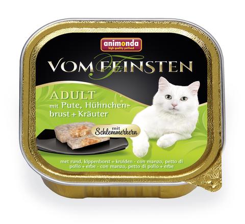 Консервы Animonda Vom Feinsten Adult Меню для гурманов с индейкой, куриной грудкой и травами для взрослых привередливых кошек