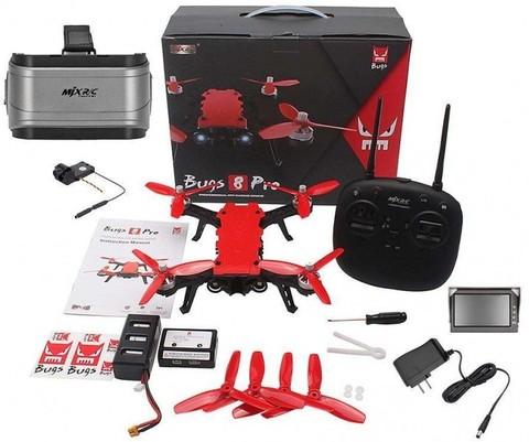 Радиоуправляемый гоночный квадрокоптер MJX Bugs 8 PRO + FPV очки + FPV камера