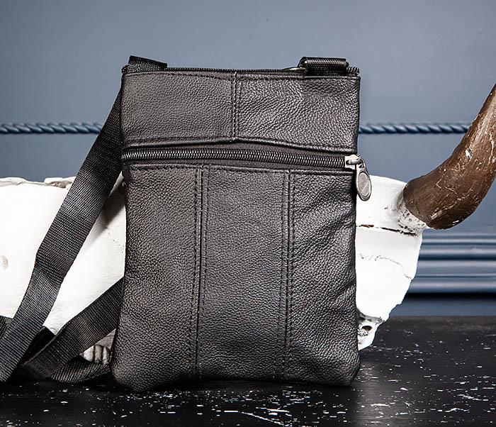 BAG541-1 Мужская сумка планшет из натуральной кожи фото 05
