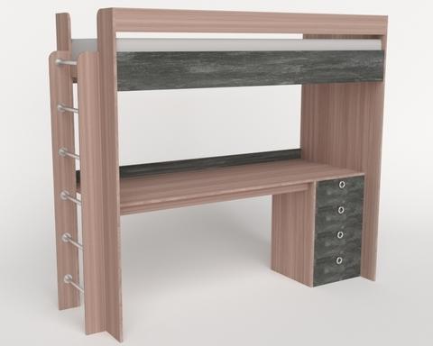 Кровать-стол ШИБУЯ-2 левая 1900-800 /2052*1800*832/