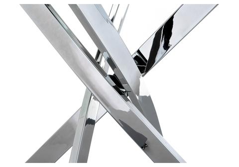 Стеклянный стол кухонный, обеденный, для гостиной Komo 1 100 100*100*73 Хромированный металл /Прозрачный