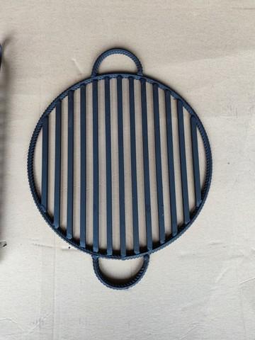 Круглая стальная решетка-гриль, диаметр 38 см.