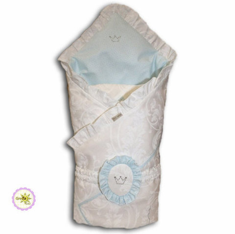 Анжелика плед-конверт голубой