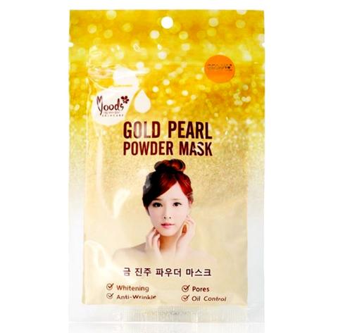 Маска для лица с биозолотом и жемчугом MOODS GOLD PEARL POWDER MASK 50 гр.