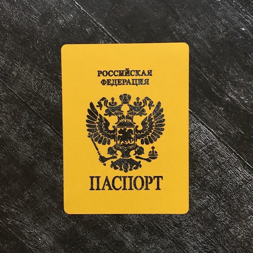 Трафарет паспорт №1