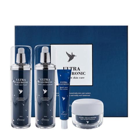 Esthetic House Ultra Hyaluronic Acid Bird's Nest Skin Care Set набор увлажняющих средств для кожи лица и век с экстрактом ласточкиного гнезда