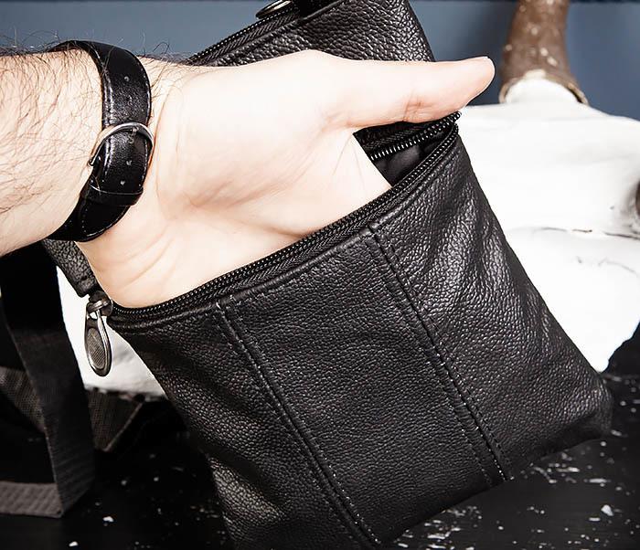 BAG541-1 Мужская сумка планшет из натуральной кожи фото 06