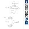 Смеситель для ванны с изливом YPSILON PLUS  6405S - фото №2