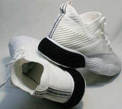 Женские кроссовки белые на толстой подошве El Passo KY-5 White.