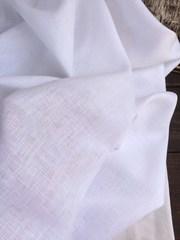 Лен костюмный 100%, Белый
