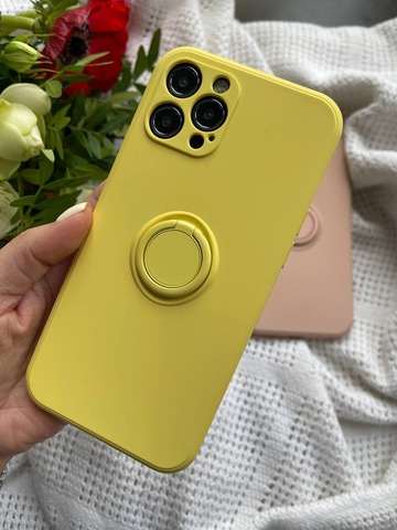 ехол iPhone 11 Pro Max Silicone Full Camera Ring /yellow/