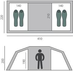 Палатка кемпинговая Btrace Tube 4 - 2