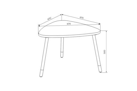 Детский столик Mini (треугольный)
