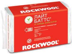 Плита из каменной ваты Роквул Лайт Баттс 1000х600х100мм (3м2=0,3м3) (5шт)
