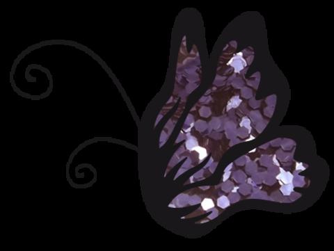 Эль Коразон Глиттеры 28 фиолетовый глиттер крупный