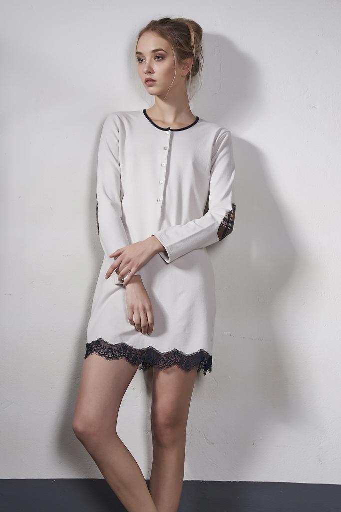 Теплая домашняя сорочка Rebecca & Bros