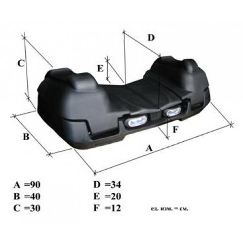 Передний кофр для квадроцикла