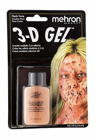 MEHRON 3-D Гель для спецэффектов Makeup 3-D Gel (0.5 oz), Fleshtone - (цвет кожи), 15 мл