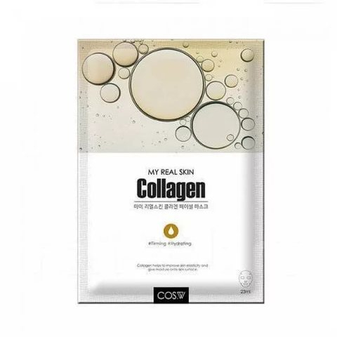 Тканевая маска для лица коллаген COS.W My Real Skin Collagen Facial Mask
