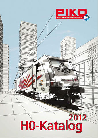 99502 Каталог продукции PIKO 2012 года, масштаб Н0 (на немецком языке).