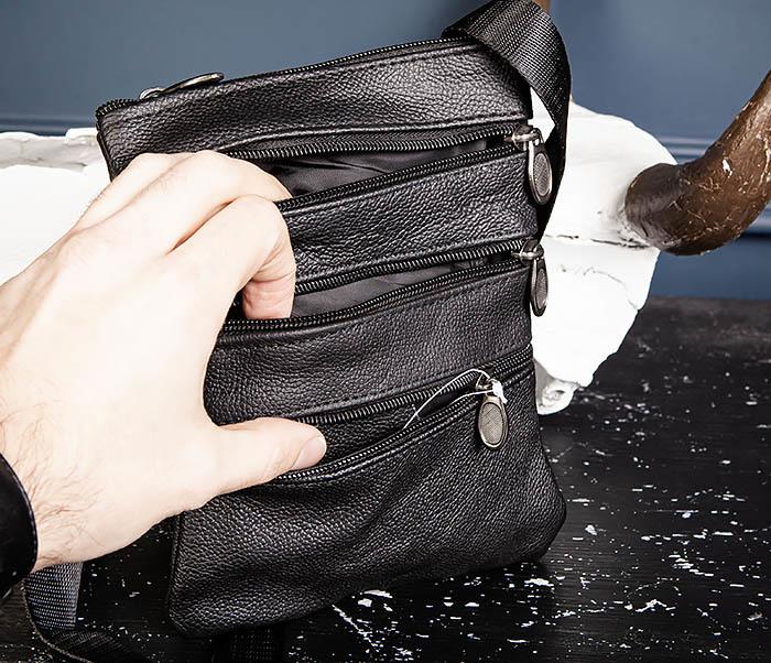 BAG541-1 Мужская сумка планшет из натуральной кожи фото 07