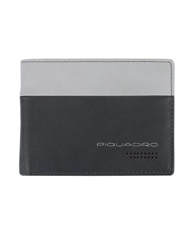 Кошелек Piquadro Urban, серый/черный, 13x9,5x2 см