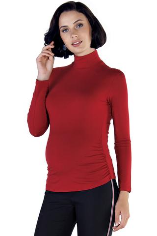 Водолазка для беременных 03731 красный