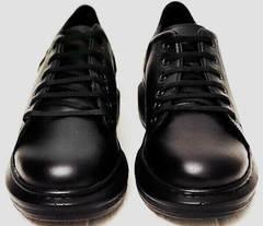 Женские кожаные кеды кроссовки на каждый день EVA collection 0721 All Black.