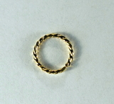 Кольцо витое разъемное, 8x1 мм, позолоченное, 5 шт.