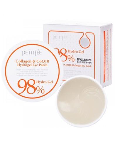 Гидрогелевые патчи под глаза с коэнзимом Q10 и коллагеном Petitfee Collagen & CoQ10 Hydrogel Eye Patch 60 шт