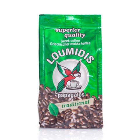 Кофе натуральный молотый LOUMIDIS PAPAGALOS 194г
