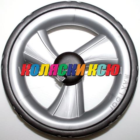 Колесо для детской коляски №005088 не надув, наружный диаметр 193 мм, на ось 10мм Цвет: СЕРЫЙ