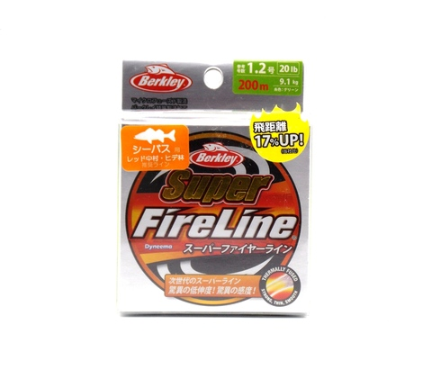 Плетеная леска Berkley Super Fireline Ярко-зеленая 200 м. 1,2 РЕ 9,1 кг. Chartreuse (Японский рынок) (1324478)