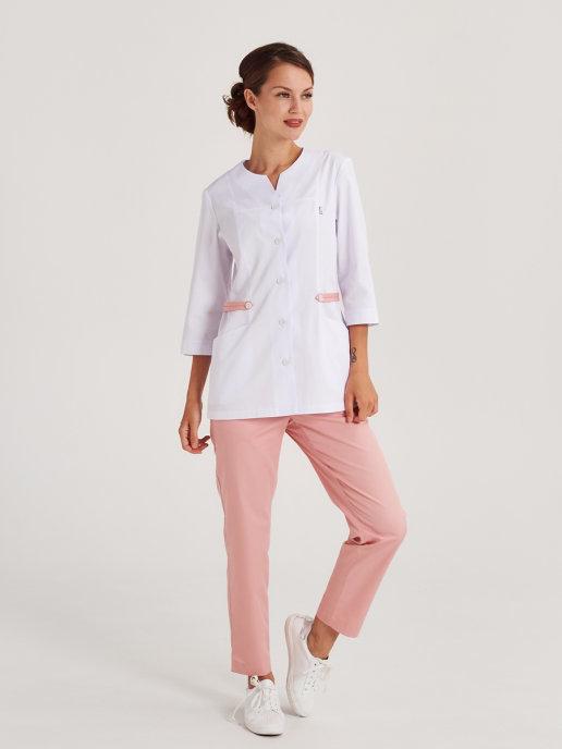 Белая медицинская блуза