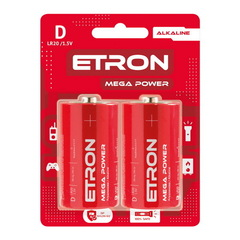 Батарейки Maxus/Etron Alkaline LR20, D (2/12) BL