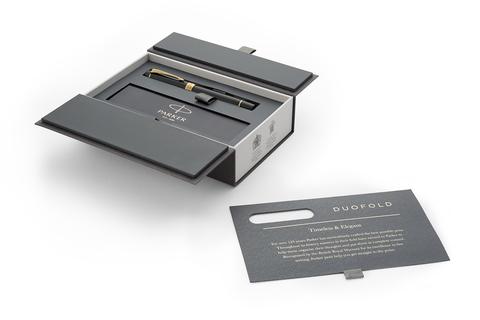 Перьевая ручка Parker Duofold Classic Centennial, Black GT, перо: F123