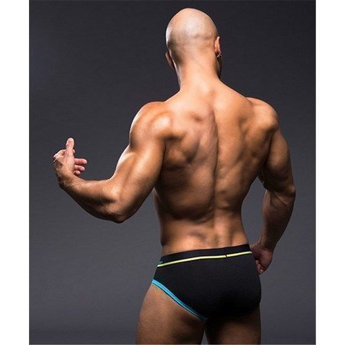 Мужские трусы брифы черные Andrew Christian Glow Almost Naked Quirk   AC9521