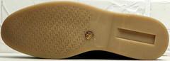 Кожаные лоферы женские полуботинки на толстой подошве Rozen 6023+1 «Loro Piana».