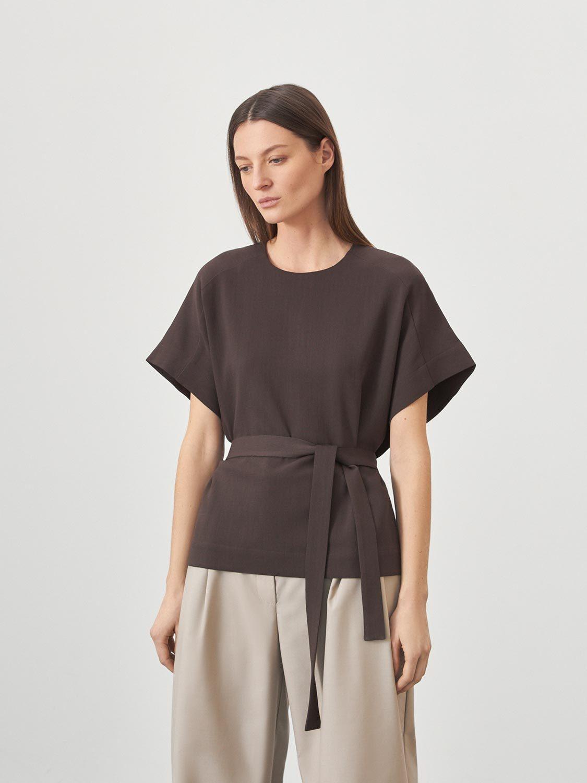 Блуза Ella с боковыми поясами
