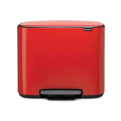 Мусорный бак Bo  (3 x 11 л), Пламенно-красный