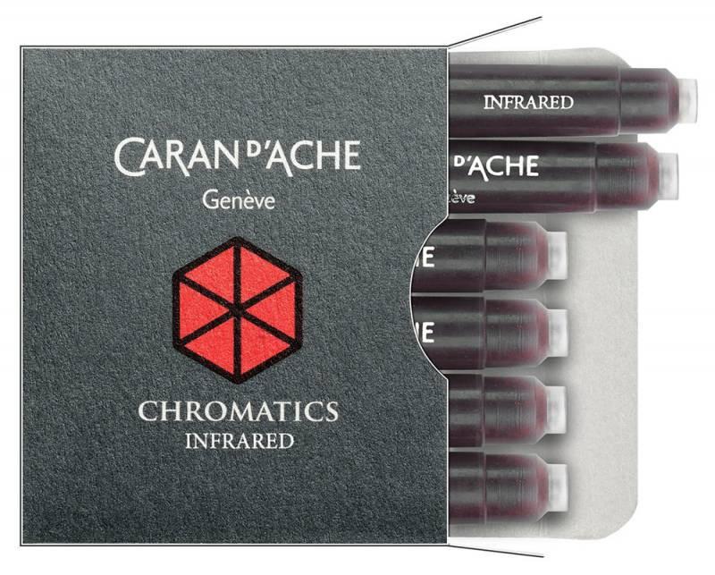 Carandache Чернила (картридж), темно-красный, 6 шт в упаковке