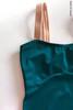 Strap leotard for classes   emerald