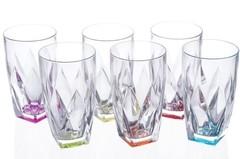 Набор стаканов для воды цветные RCR Ninphea 330 мл, 6 шт, фото 4