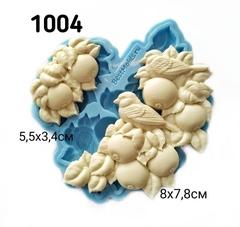 1004 Молд силиконовый. Яблоки с птицами.