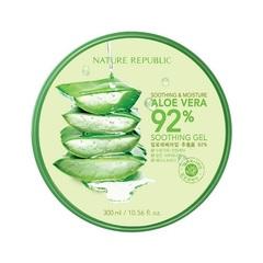 [Акция успк день] Алое Гель NATURE REPUBLIC Soothing & Moisture Aloe Vera 92% Soothing Gel 300ml