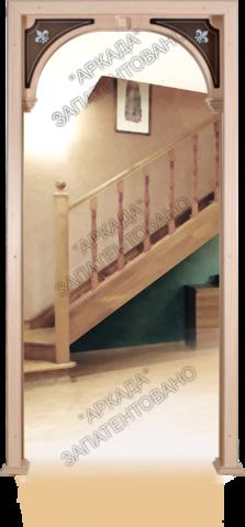 Арка Лилия (стекло) шпонированная (беленый дуб), фабрика Аркада